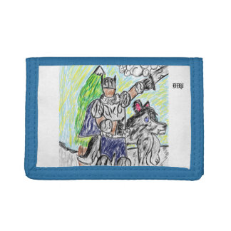 knight and wolf 2 trifold wallet