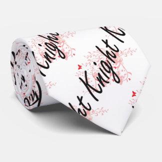 Knight Artistic Job Design with Butterflies Tie
