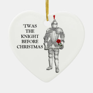 Knight Before Christmas Christmas Ornament