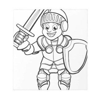 Knight Cartoon Character Notepad