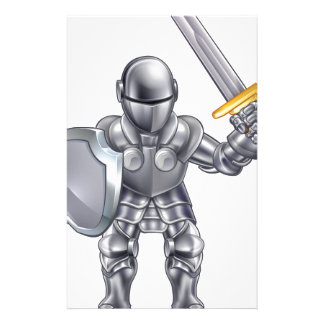 Knight Cartoon Character Stationery Design