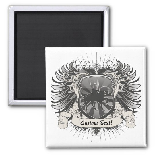 Knight Crest Square Magnet