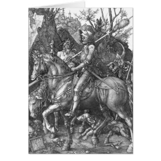 Knight, Death and the Devil, 1513 (engraving) Greeting Card