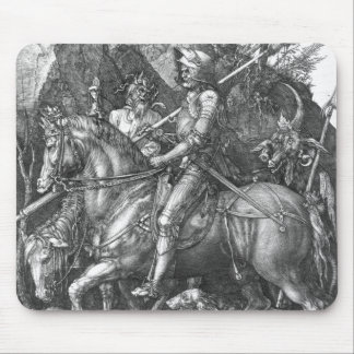 Knight, Death and the Devil, 1513 (engraving) Mouse Mat