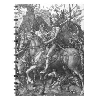 Knight, Death and the Devil, 1513 (engraving) Spiral Notebook