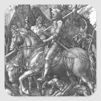 Knight, Death and the Devil, 1513 (engraving) Square Sticker