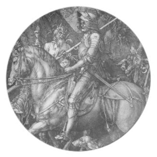 'Knight, Death and the Devil' Dinner Plates