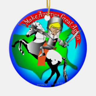 Knight Donald Trump Christmas Ornament