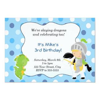 """Knight Dragon Invitation 5"""" X 7"""" Invitation Card"""