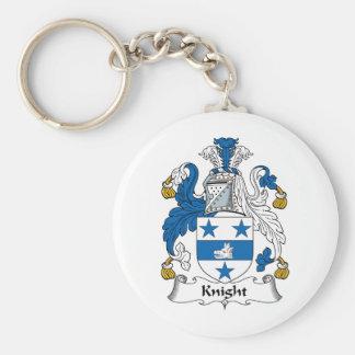 Knight Family Crest Key Ring