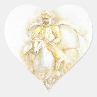Knight Heart Sticker