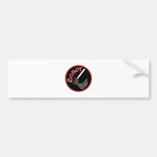 Knight Honor Bumper Sticker