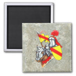Knight Horse Faux Stone Square Magnet