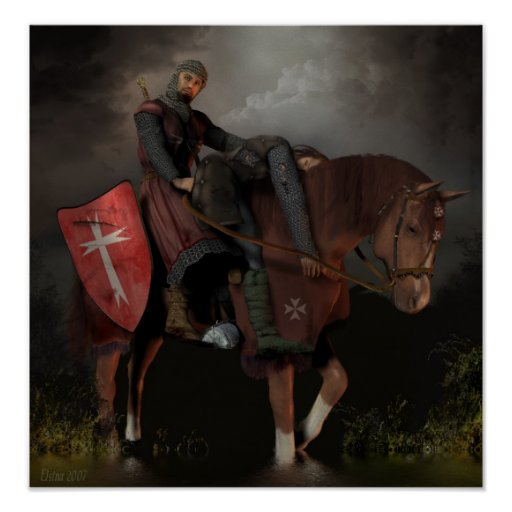 Knight Hospitaller of Saint John Poster