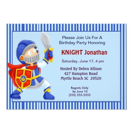 Knight In Armour Birthday Invitation
