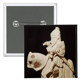 Knight in armour on his horse 15 cm square badge