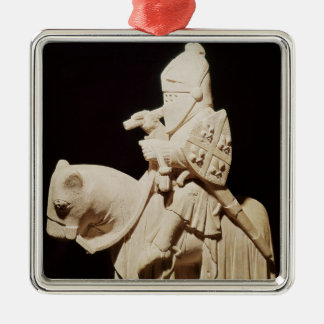 Knight in armour on his horse christmas ornament