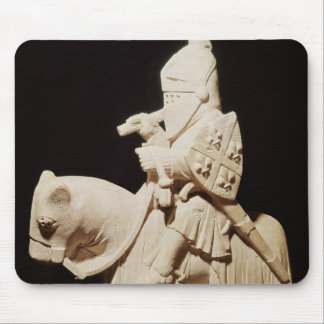 Knight in armour on his horse mouse mat