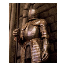 Knight in Armour Poster
