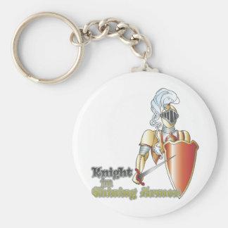 knight in shining armor key ring