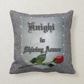 Knight in Shining Armor Red Rose Shield Cushion
