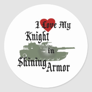 Knight in Shining Armor Tank Stickers