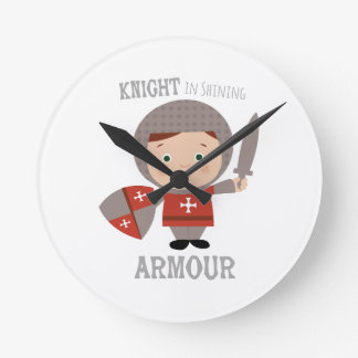 Knight In Shining Armour Round Clock