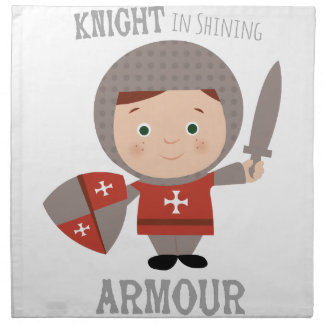 Knight In Shining Armour Cloth Napkins