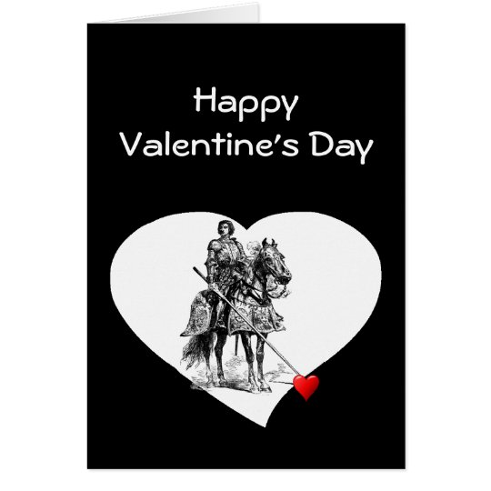 Knight in Shining Armour Love Valentine Humour Card