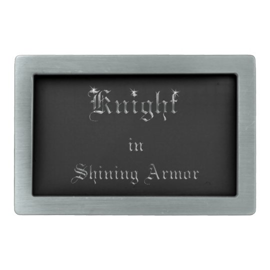 Knight in Shining Armour on Black Belt Buckles