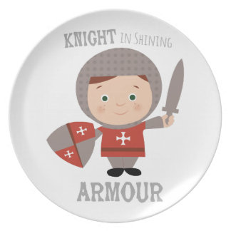 Knight In Shining Armour Dinner Plate