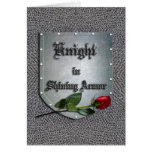 Knight in Shining Armour Rose Card
