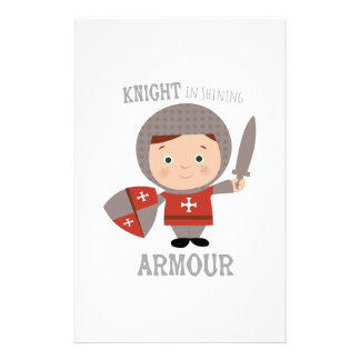 Knight In Shining Armour Stationery Design
