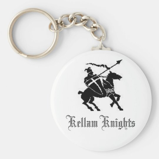 Knight, Kellam Knights Basic Round Button Key Ring