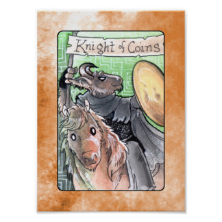 Knight of Coins Posters
