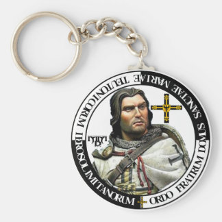 Knight of German medals key supporters Basic Round Button Key Ring