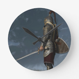 Knight of the Storm Round Clock