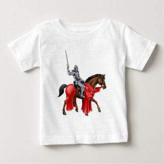 Knight on Horse Holding Sword Baby T-Shirt