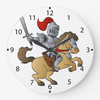 Knight on Horse Large Clock