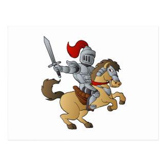 Knight on Horse Postcard