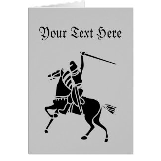 Knight On Horse Silhouette Greeting Card