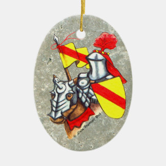 Knight on Horseback Painting Christmas Ornament
