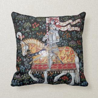 Knight on Horseback Pillow Tile Montacute Tapestry
