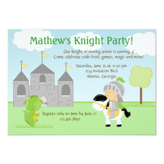 Knight Party Invitation