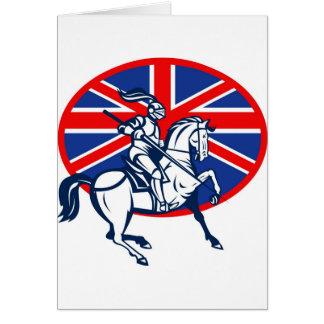 knight rider riding horse retro cards