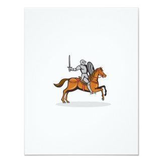 Knight Riding Horse Cartoon 11 Cm X 14 Cm Invitation Card