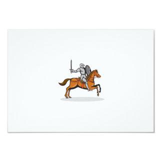 Knight Riding Horse Cartoon 9 Cm X 13 Cm Invitation Card