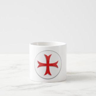 Knight s Templar Cross Symbol Espresso Mug