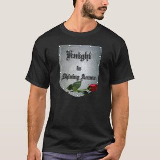 Knight Shining Armor Shield With Rose T-Shirt