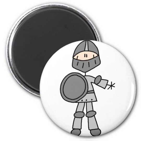 Knight Stick Figure Magnet